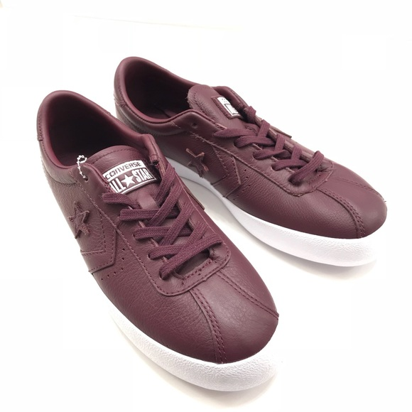 a3812eb36a7b Converse Shoes - Burgundy Leather Converse All Star Sneaker